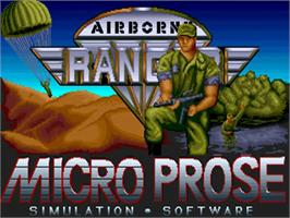 Title screen of Airborne Ranger on the Commodore Amiga.