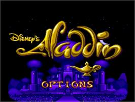 Title screen of Aladdin on the Commodore Amiga.