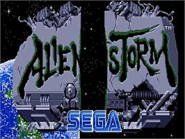 Title screen of Alien Storm on the Commodore Amiga.