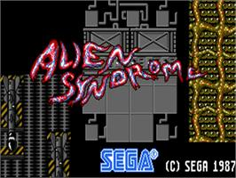 Title screen of Alien Syndrome on the Commodore Amiga.