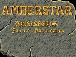 Title screen of Amberstar on the Commodore Amiga.