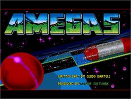 Title screen of Amegas on the Commodore Amiga.