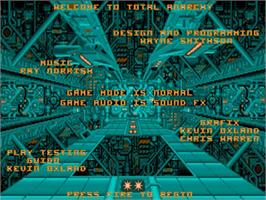 Title screen of Anarchy on the Commodore Amiga.