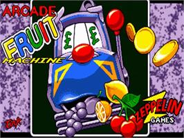 Title screen of Arcade Fruit Machine on the Commodore Amiga.