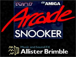 Title screen of Arcade Snooker on the Commodore Amiga.