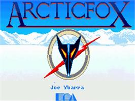 Title screen of Arcticfox on the Commodore Amiga.