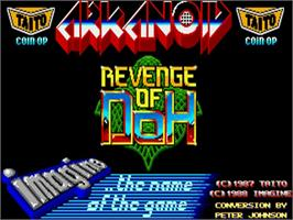 Title screen of Arkanoid - Revenge of DOH on the Commodore Amiga.