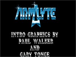 Title screen of Armalyte on the Commodore Amiga.