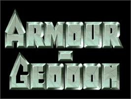 Title screen of Armour-Geddon on the Commodore Amiga.