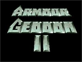 Title screen of Armour-Geddon 2: Codename Hellfire on the Commodore Amiga.