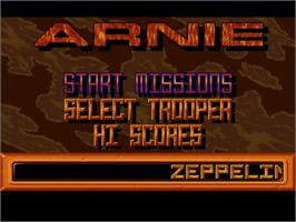 Title screen of Arnie on the Commodore Amiga.