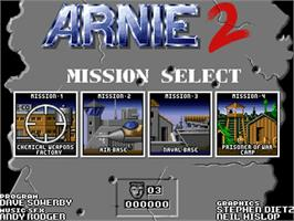 Title screen of Arnie 2 on the Commodore Amiga.