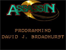 Title screen of Assassin on the Commodore Amiga.