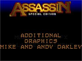 Title screen of Assassin Special Edition on the Commodore Amiga.