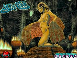 Title screen of Astaroth: The Angel of Death on the Commodore Amiga.