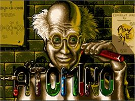 Title screen of Atomino on the Commodore Amiga.