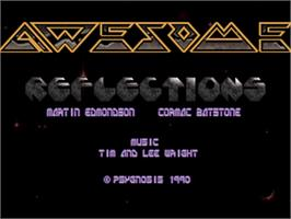 Title screen of Awesome on the Commodore Amiga.