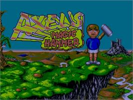 Title screen of Axel's Magic Hammer on the Commodore Amiga.