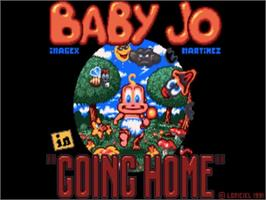 Title screen of Baby Jo in: