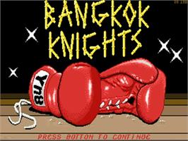 Title screen of Bangkok Knights on the Commodore Amiga.