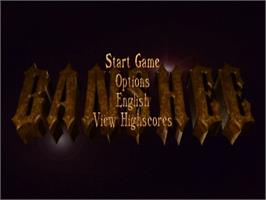 Title screen of Banshee on the Commodore Amiga.