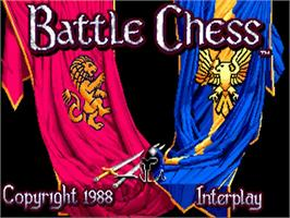 Title screen of Battle Chess on the Commodore Amiga.