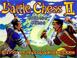 Title screen of Battle Chess 2: Chinese Chess on the Commodore Amiga.