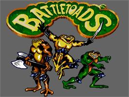 Title screen of Battle Toads on the Commodore Amiga.