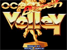 Title screen of Beach Volley on the Commodore Amiga.