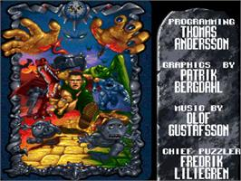 Title screen of Benefactor on the Commodore Amiga.