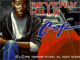 Title screen of Beverly Hills Cop on the Commodore Amiga.