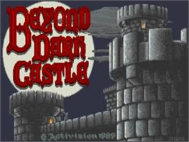 Title screen of Beyond Dark Castle on the Commodore Amiga.