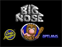 Title screen of Big Nose the Caveman on the Commodore Amiga.