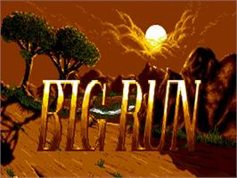 Title screen of Big Run on the Commodore Amiga.