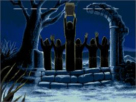 Title screen of Black Sect on the Commodore Amiga.