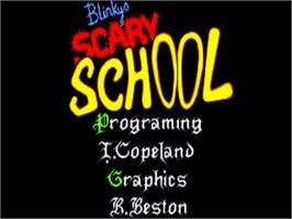 Title screen of Blinky's Scary School on the Commodore Amiga.