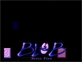 Title screen of Blob on the Commodore Amiga.