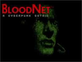 Title screen of BloodNet on the Commodore Amiga.