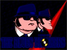 Title screen of Blues Brothers on the Commodore Amiga.