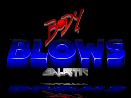 Title screen of Body Blows Galactic on the Commodore Amiga.