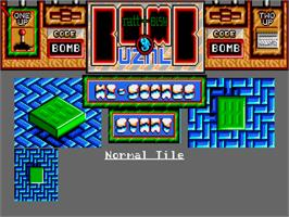 Title screen of Bombuzal on the Commodore Amiga.