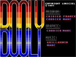 Title screen of Booly on the Commodore Amiga.