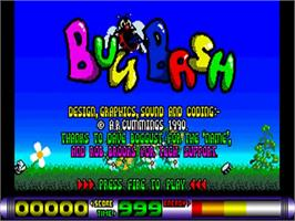 Title screen of Bug Bash on the Commodore Amiga.