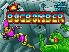 Title screen of Bug Bomber on the Commodore Amiga.