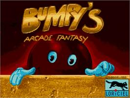 Title screen of Bumpy's Arcade Fantasy on the Commodore Amiga.