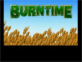 Title screen of Burntime on the Commodore Amiga.