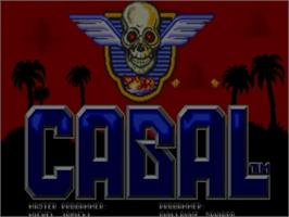 Title screen of Cabal on the Commodore Amiga.