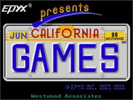 Title screen of California Games on the Commodore Amiga.