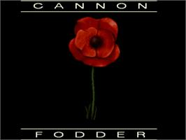 Title screen of Cannon Fodder on the Commodore Amiga.