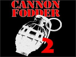 Title screen of Cannon Fodder 2 on the Commodore Amiga.